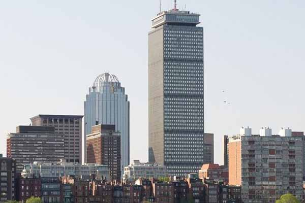 Boston skyline of skyscrapers